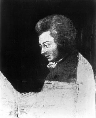 Unfinished Portrait of Wolfgang Amadeus Mozart