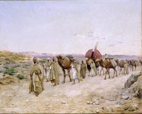 A Caravan near Biskra, 1892