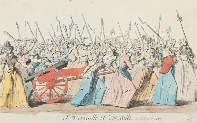 'A Versailles, A Versailles', March of the Women on Versailles, Paris, 5th October 1789