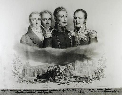 The Provisional Government of 29th July 1830. L to R: Jacques Lafitte