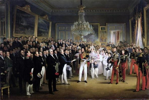 The Chamber of Deputies at the Palais Royal Summoning the Duke of Orleans, 7th August 1830