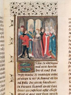 Ms. 149 t.3 fol.88 The Marriage of Philippe Auguste