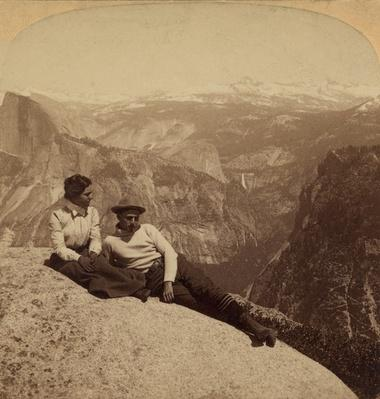 Tourists at Eagle Rock, Overlooking Yosemite Valley, ca. 1902 | Ken Burns: The National Parks