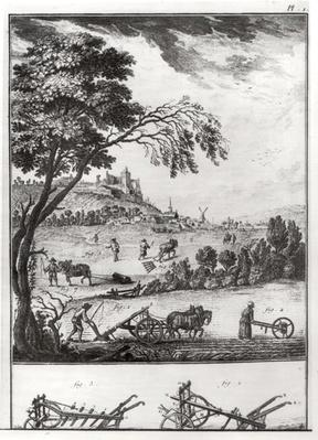Agriculture, plate I from the Encyclopaedia of Denis Diderot