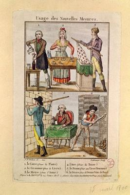Use of the New Measures, engraved by Labrousse, 1795