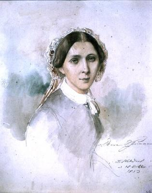 Portrait of Clara Schumann