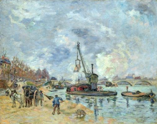 At the Quay de Bercy in Paris, 1874