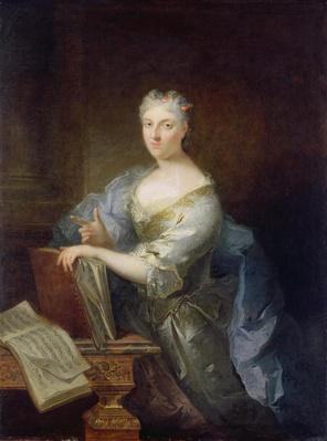 Portrait of the singer Marie-Louise Desmatins