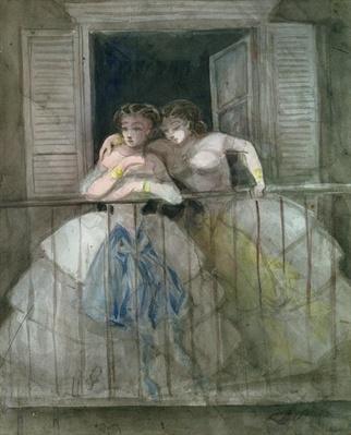 Girls on the Balcony, 1855-60