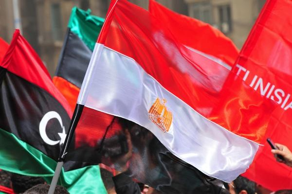 Flags of Libya, Egypt, and Tunisia | Arab Spring