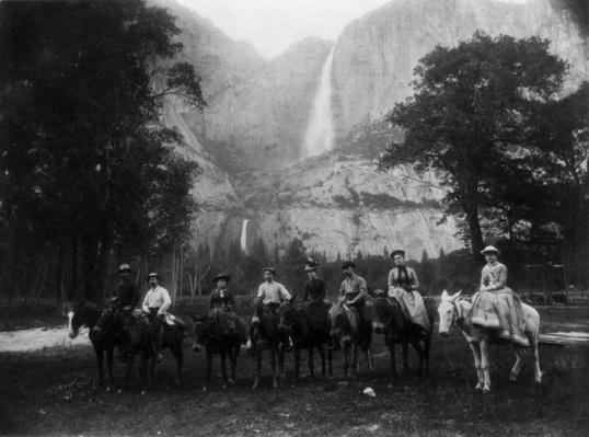 Early Tourists in Front of Yosemite Falls, ca. 1880 | Ken Burns: The National Parks
