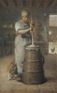 Churning Butter, 1866-68