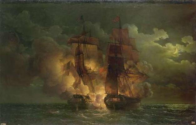 Battle Between the French Frigate 'Arethuse' and the English Frigate 'Amelia' in View of the Islands of Loz, 7th February 1813