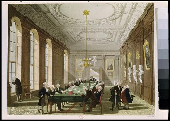 The College of Physicians, from Ackermann's 'Microcosm of London'