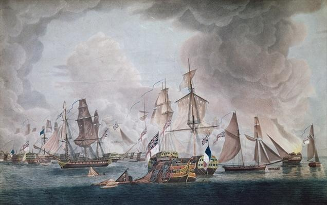 The Defeat of the Combined Forces of France and Spain at the Battle of Trafalgar in 1805