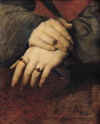 Study of a Woman's Hands, after the portrait of Maddalena Doni by Raphael