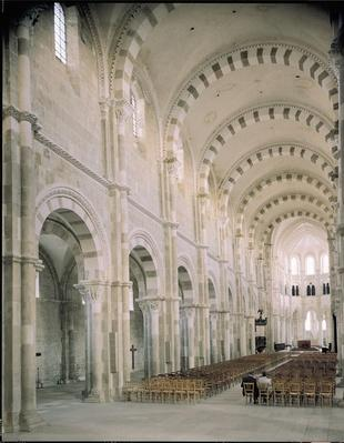 View of the interior of the nave, 12th century