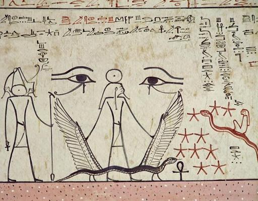 The two mystical eyes, from the Tomb of Tuthmosis III
