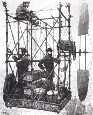 The Dirigible of the Brothers Albert and Gaston Tissandier