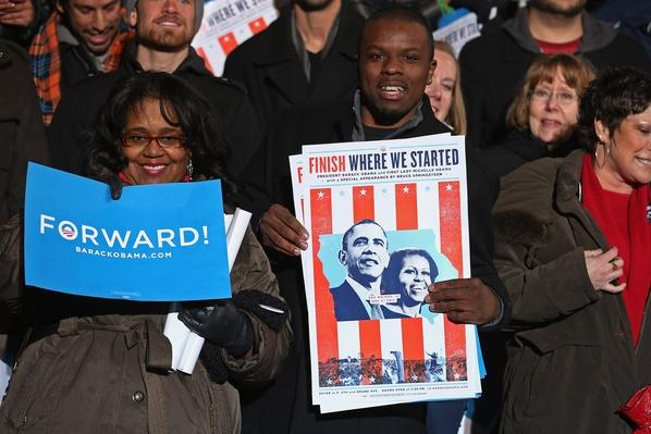 Obama Campaigns In Midwest Swing States One Day Before Election Day | U.S. Presidential Elections 2012