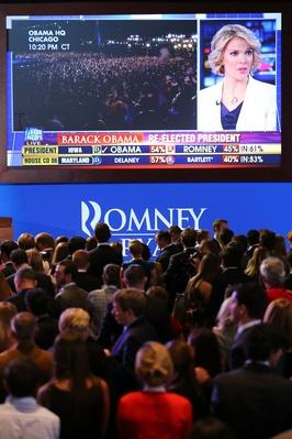 Republican Presidential Candidate Mitt Romney Holds Election Night Gathering | U.S. Presidential Elections 2012