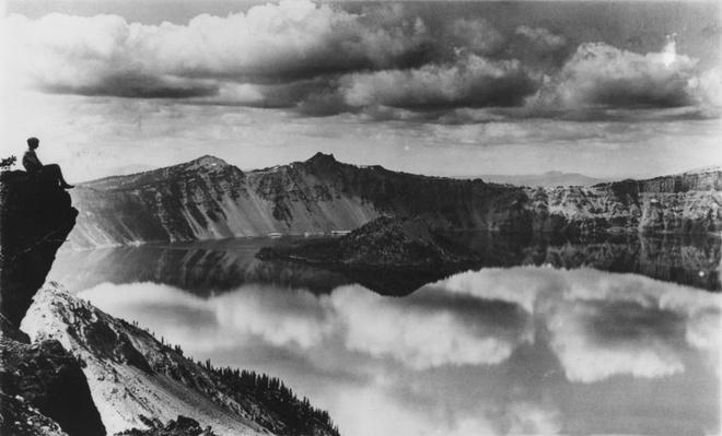 Tourist at Crater Lake | Ken Burns: The National Parks