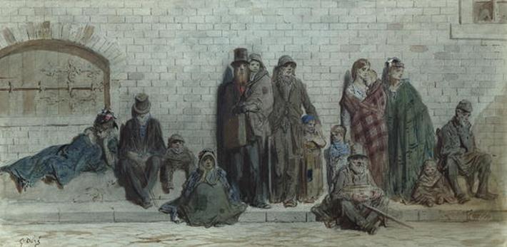 London Street Scene, c.1868-72