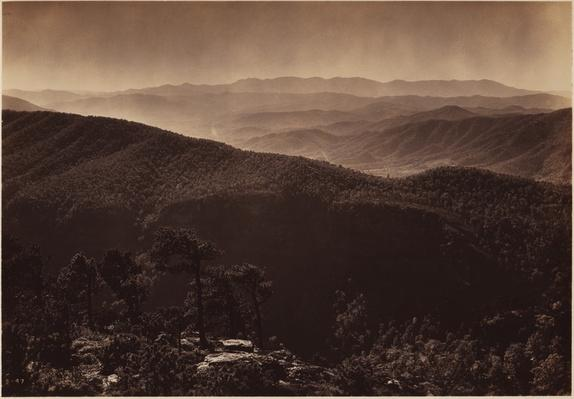 George Masa Landscape of the Mitchell and Linville Ranges, Smoky Mountains | Ken Burns: The National Parks