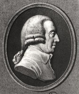Portrait from a medallion of Adam Smith