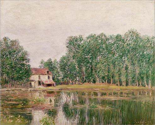 The Banks of the Canal at Moret-sur-Loing, 1892
