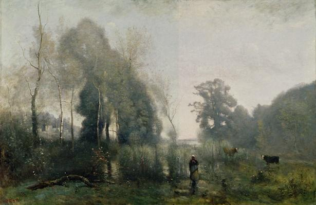 Morning at Ville-d'Avray or, The Cowherd, 1868