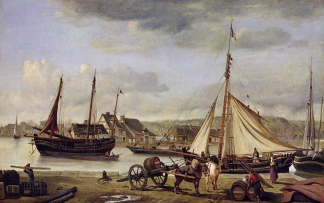 The Merchant's Quay at Rouen, 1834