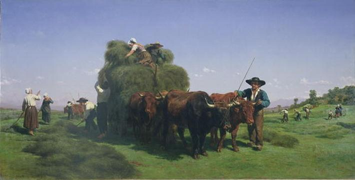 Haymaking, Auvergne