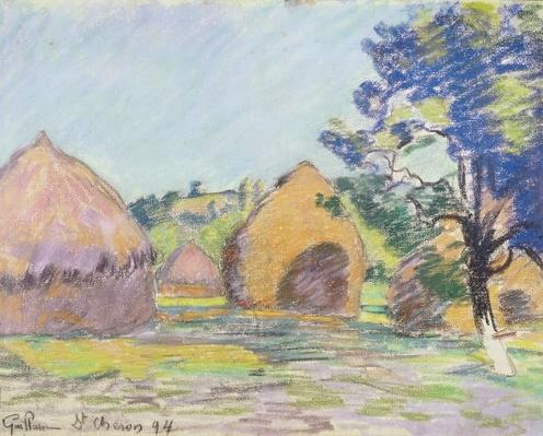 Haystacks at Saint-Cheron