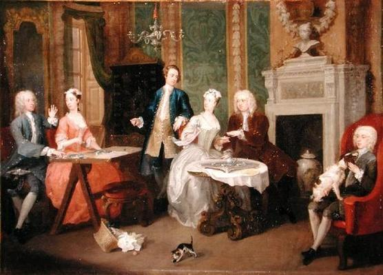 Portrait of a Family, 1730s