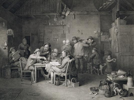 The Village Politicians, engraved by Abraham Raimbach