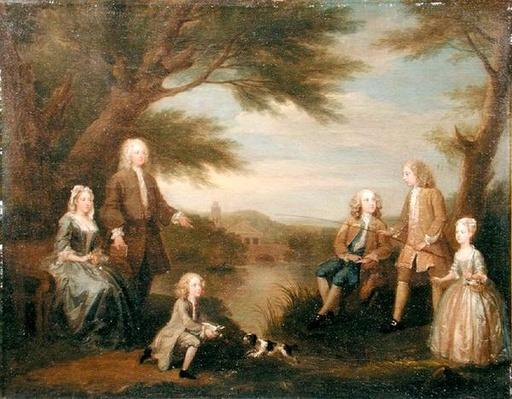 John and Elizabeth Jeffreys and their Children, 1730