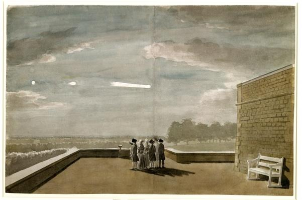 The Meteor of August 18, 1783, as seen from the East Angle of the North Terrace, Windsor Castle, 1783