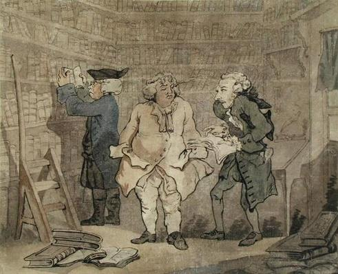 The Author and his Publisher, 1784