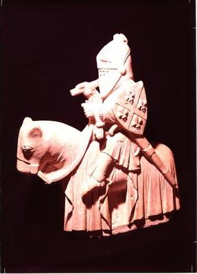 Knight in armour on his horse