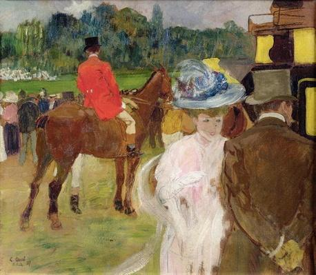 At the Races at Auteuil, 1907