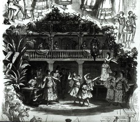 Carmen in the Lilas Pastia tavern, scene from the opera by Georges Bizet