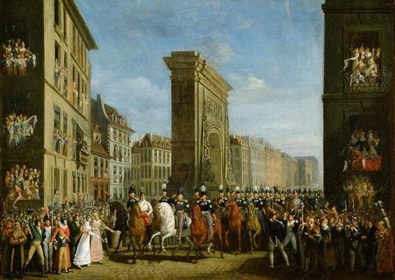 Passage of Allied Sovereigns in Front of the Porte Saint-Denis, 31st March 1814