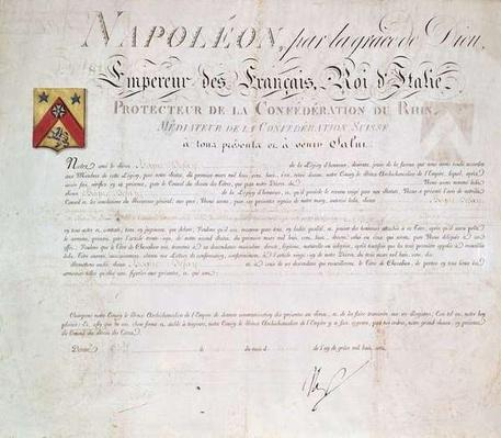 Decree of nobility created under the First Empire, 1813