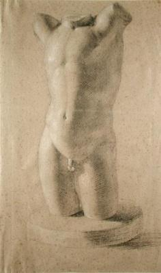Torso of a Young Man on round plinth, 1800