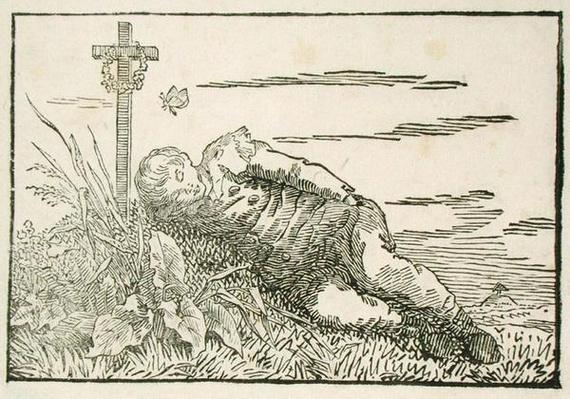 Boy Asleep on a Grave, 1802