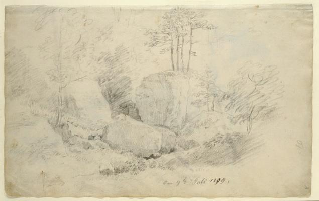Boulders in Woodland, 1800