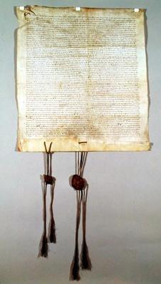 Charte de Franchise de la Ville de Vaucouleurs, granted by Gauthier de Joinville, confirmed by his uncle, Jean de Joinville, September 1298