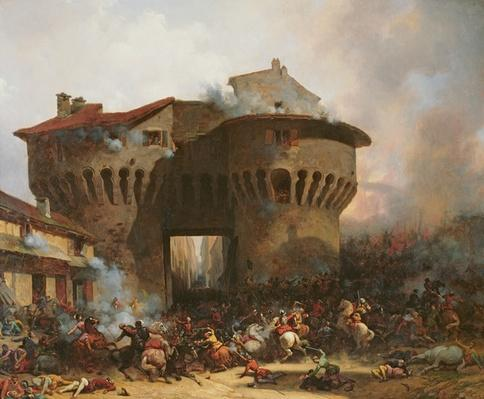 Combat at Porte Pannessac in 1562, c.1833
