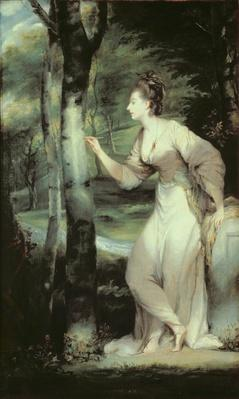 Portrait of Joanna Lloyd of Maryland, after a painting by Sir Joshua Reynolds